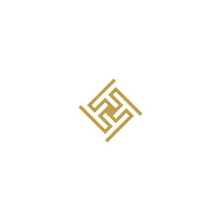Initials letters F   design vectors elegant, luxurious, gold colors V.6