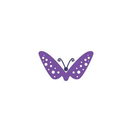 Butterfly design vectors unique, purple colors