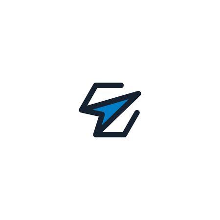 Combination of arrows and initials letters E design vectors unique, modern