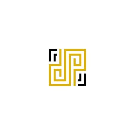 Initials letters DP design vectors elegant, unique