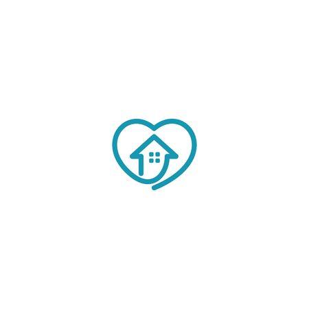 Combination of home and love  design vectors modern Illusztráció