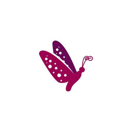 Butterfly design vectors unique, purple colors V.2 Illusztráció