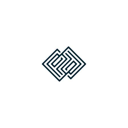 Initials letters PD design vectors elegant, unique