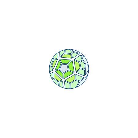 Soccer ball icon design vectors unique  イラスト・ベクター素材