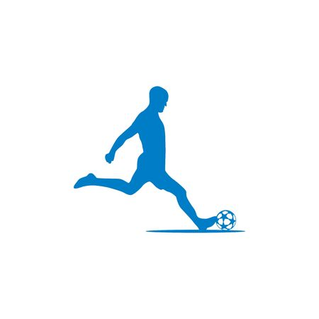 Silhouette of football players design vectors