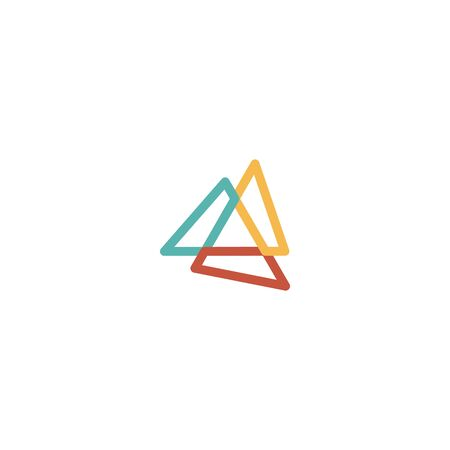 Triangle logo design vector monoline style, unique, modern Stock fotó - 130555549
