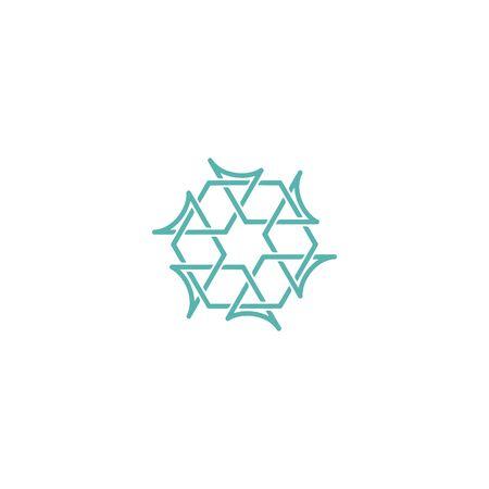 Hexagon logo design vector monoline style, unique Stock fotó - 130555555