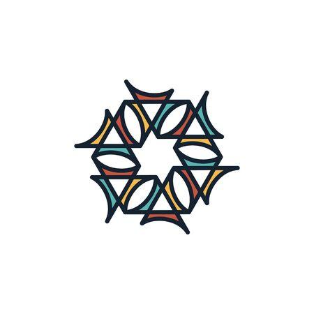 Hexagon logo design vector unique, modern Stock fotó - 130555556