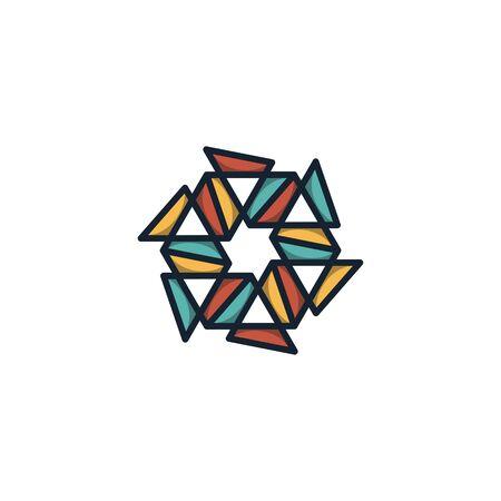 Hexagon logo design vector unique, modern