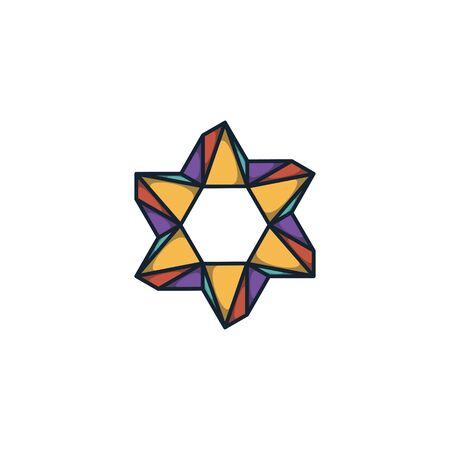 Combination of triangle and hexagon logo design vector Stock fotó - 130555564