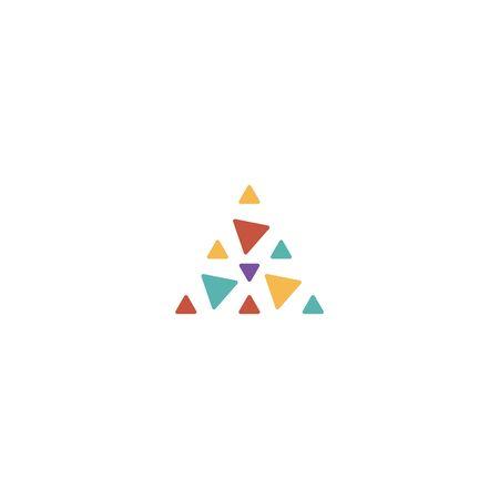 Triangle logo design vector unique, modern Stock fotó - 130555583