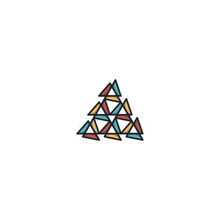 Triangle logo design vector unique, modern Illusztráció