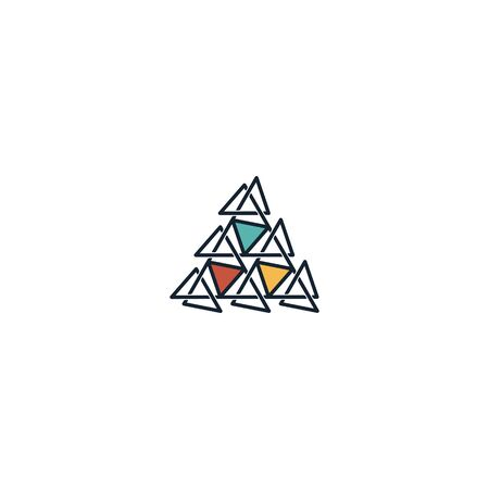 Triangle logo design vector unique, modern Stock fotó - 130555587