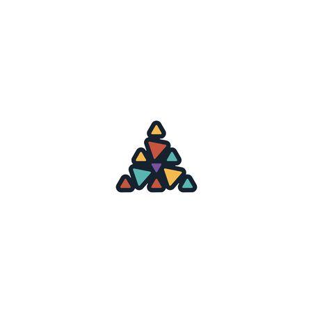 Triangle logo design vector unique, modern Stock fotó - 130555588