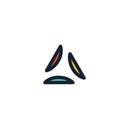 Triangle logo design vector unique, modern Stock fotó - 130555593