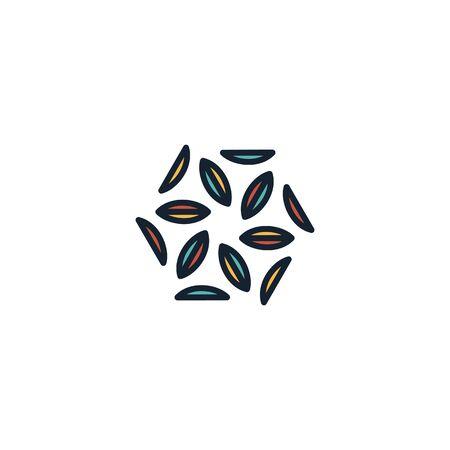 Hexagon logo design vector unique, modern Stock fotó - 130555595