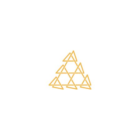 Triangle logo design vector unique, modern Stock fotó - 130555597