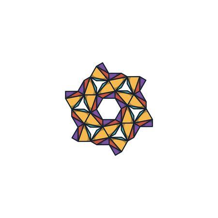 Hexagon logo design vector unique, modern Stock fotó - 130555603