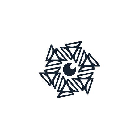 Hexagon lens logo design vector unique, modern Stock fotó - 130555610