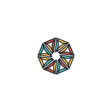 Hexagon logo design vector unique, modern Stock fotó - 130555620