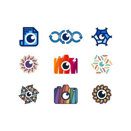 Lens design templates vectors set Stock fotó - 131769246