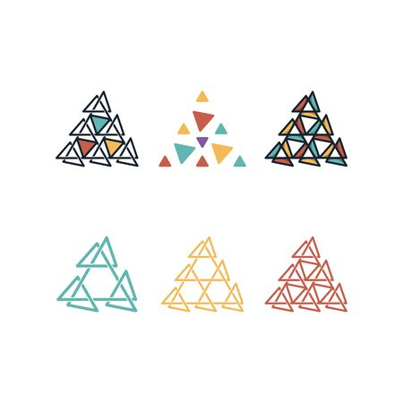 Triangle combination design templates vector Set Stock fotó - 131769251