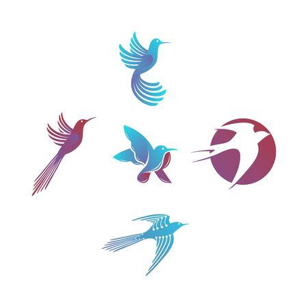 Bird design templates vector Set Stock fotó - 131769254