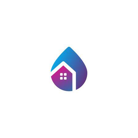 Home water icon design vectors Stock fotó - 133989379