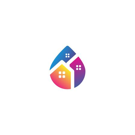 Home water icon design vector colorful Stock fotó - 133989381