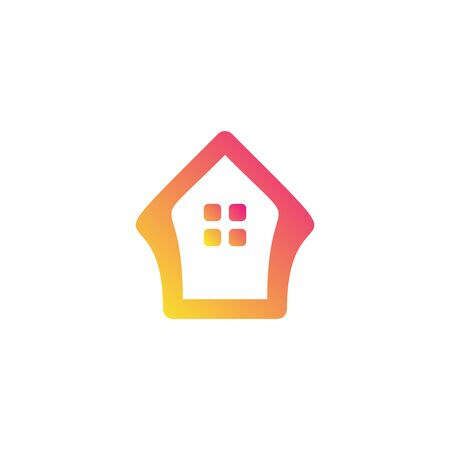 Home unique logo design vector