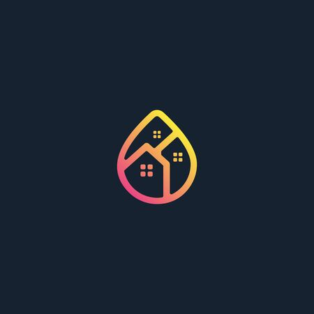 Home water icon design vectors