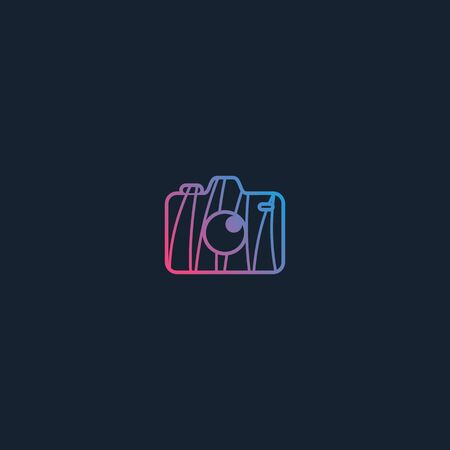 Camera icon design vectors unique modern colorful