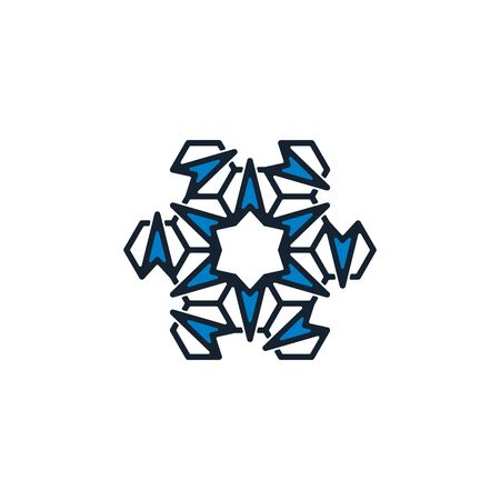 Combination of arrow and hexagonal icon design vector unique Illusztráció