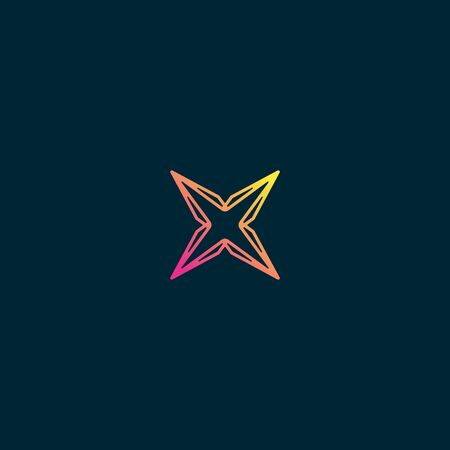 Initial letter X icon design vector unique colorful