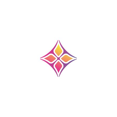 Beautiful flower logo design vector colorful