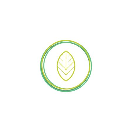 Green leaf logo design vector unique