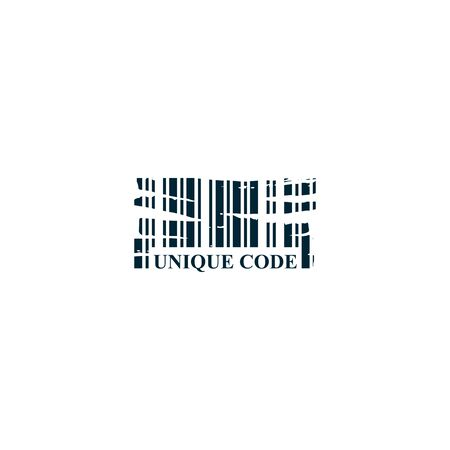 Unique Code logo design vector