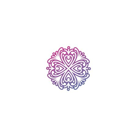 Ornament or mandala love design vector graphic element colorful