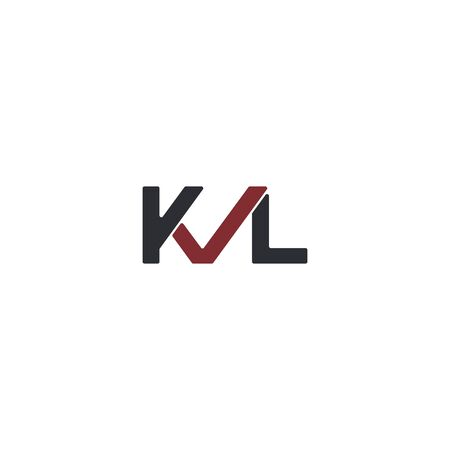 Combination of initial letter KVL and checklist logo design unique