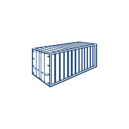 Container design vector concept unique