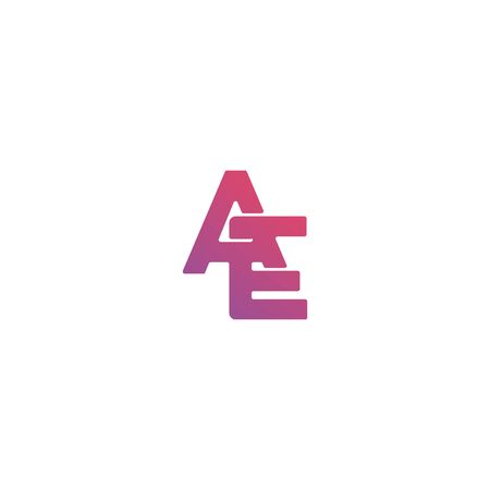 Initial letter AE icon design vector