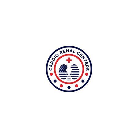 Emblem logo design for Cardio Renal Centers