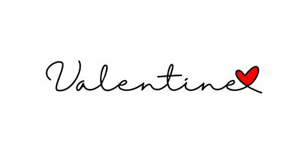valentine vector background, with the concept of typography and heart or love