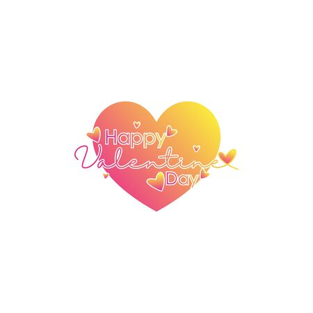 happy valentine day vector design background, with the concept of typography and heart or love