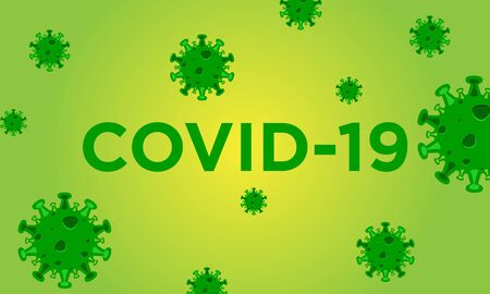 COVID-19 vector design template concept background