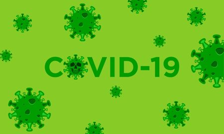 COVID-19 vector design template concept background Ilustração