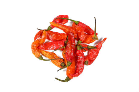 Stack of Dried Chilli Pepper Stock Photo