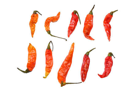 Assortment of Dried Chilli Pepper Stock Photo