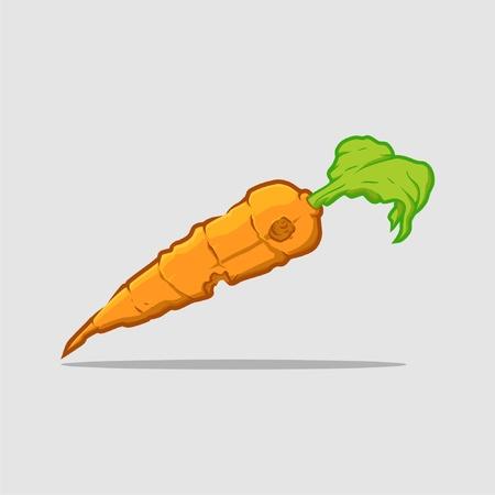 carrots that have been bitten Vector