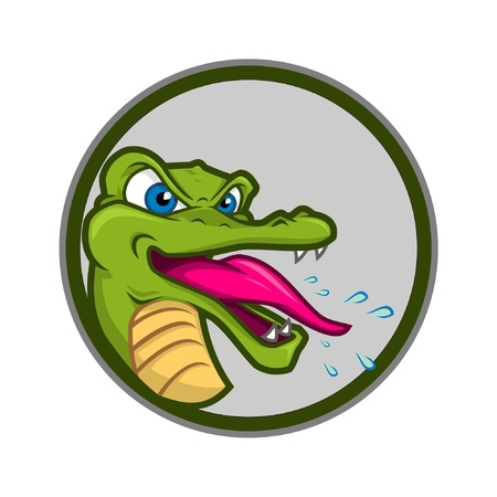 caiman: crazy crocodile great for icon and etc